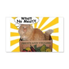 Hippy Kitty What! No Meat?! Wall Decal