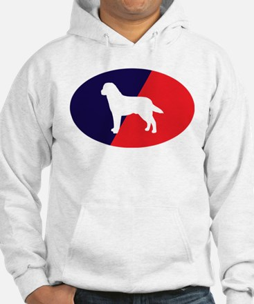 Red White Blue Lab Hoodie