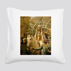 Guinevere Maying by Collier Square Canvas Pillow
