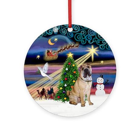 Xmas Magic & Shar Pei Ornament (Round)