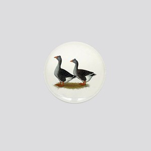 Tufted Toulouse Geese Mini Button