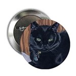 MeMe, the black cat Button