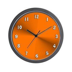 Orange Shimmer Wall Clock