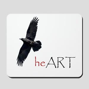 Raven Heart Mousepad