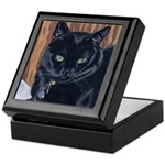 MeMe, the black cat Keepsake Box