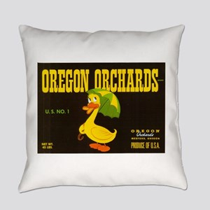 Oregon Orchard Duck Everyday Pillow