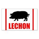 lechon Sticker (Rectangle 50 pk)
