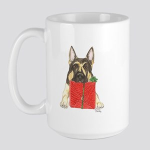 Christmas German Shepherd Large Mug