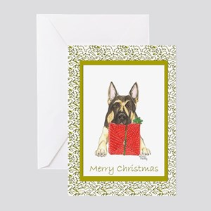Christmas German Shepherd Greeting Cards (Package