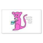kangaroo Sticker (Rectangle 50 pk)