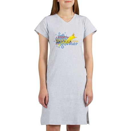 I Stop for Banana Slugs T-Shirt Women's Nightshirt