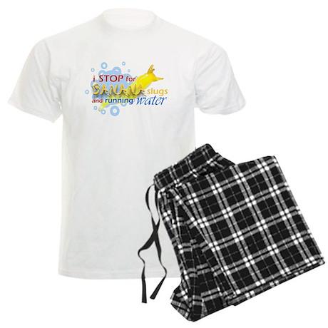 I Stop for Banana Slugs T-Shirt Men's Light Pajama