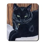 MeMe, the black cat Mousepad