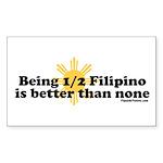 Half Filipino Sticker (Rectangle 50 pk)