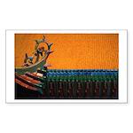 Buddhist Tile Work Sticker (Rectangle 50 pk)