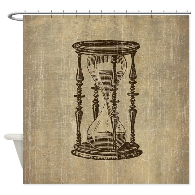 vintage hourglass shower curtain by esangha 87973