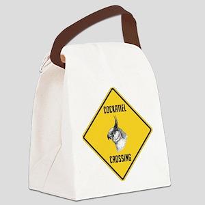 crossing-sign-cockatiel Canvas Lunch Bag