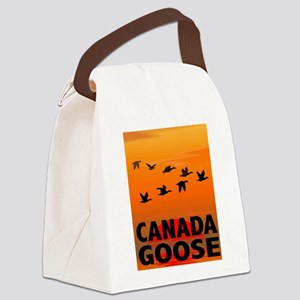 canada-geese-CROP-text Canvas Lunch Bag