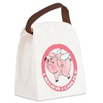 FIN-cute-flying-pig-TRANS Canvas Lunch Bag