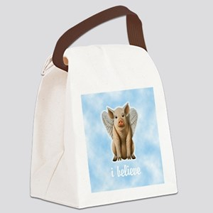 FIN-flying-pig-believe-10X10 Canvas Lunch Bag