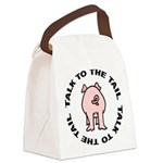 FIN-pig-talk-tail Canvas Lunch Bag