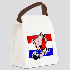 croatia-soccer-pig Canvas Lunch Bag