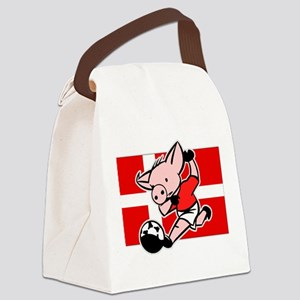 denmark-soccer-pig Canvas Lunch Bag