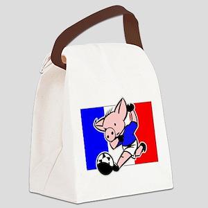 france-soccer-pig Canvas Lunch Bag