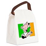 ireland-soccer-pig Canvas Lunch Bag