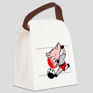 japan-soccer-pig Canvas Lunch Bag