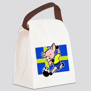 sweden-soccer-pig Canvas Lunch Bag