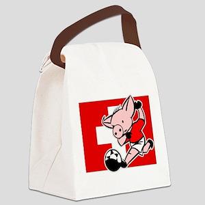 switzerland-soccer-pig Canvas Lunch Bag