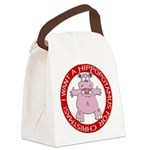 FIN-hugging-hippo-christmas Canvas Lunch Bag