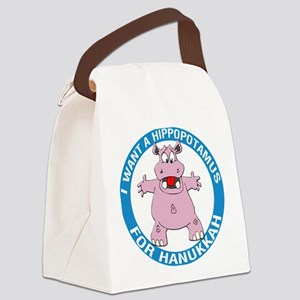 FIN-hippopotamus-for-hanukkah Canvas Lunch Bag
