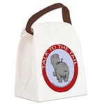 FIN-hippo-talk-tail-NEW Canvas Lunch Bag