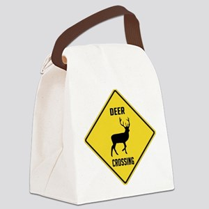 crossing-sign-deer Canvas Lunch Bag