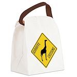 crossing-sign-giraffe Canvas Lunch Bag