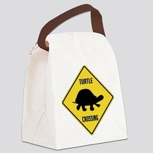 crossing-sign-turtle Canvas Lunch Bag
