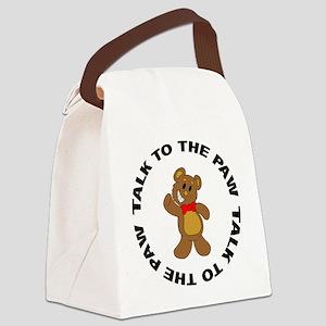 FIN-teddy-bear-paw Canvas Lunch Bag