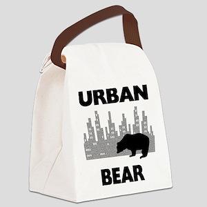 FIN-urban-bear Canvas Lunch Bag