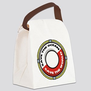 FIN-save-ocean-save-world Canvas Lunch Bag