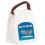 FIN-whale-talk-tail Canvas Lunch Bag