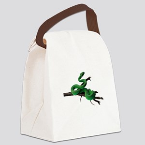 FIN-green-tree-pyth... Canvas Lunch Bag