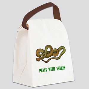 plays-with-snakes.t... Canvas Lunch Bag
