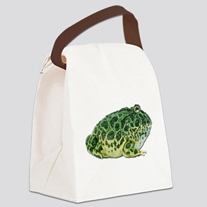 FIN-pacman-frog Canvas Lunch Bag