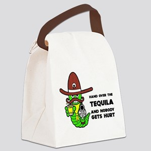 FIN-hand-over-tequila Canvas Lunch Bag
