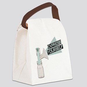 FIN-express-yourself Canvas Lunch Bag
