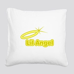 FIN-lil-angel Square Canvas Pillow