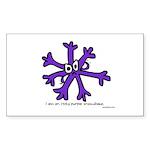 snowflake Sticker (Rectangle 50 pk)