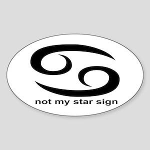 Not My Star Sign Oval Sticker
